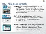 2012 key projects highlights