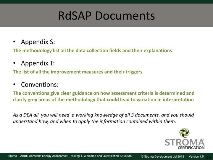RdSAP Documents