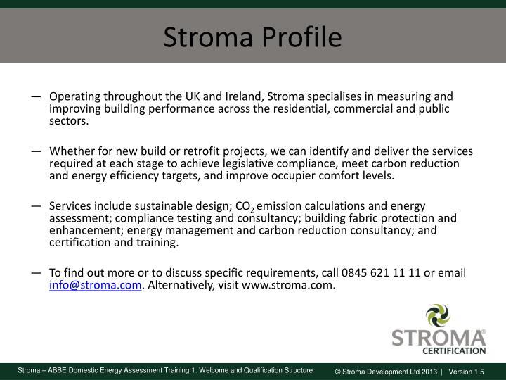 Stroma Profile