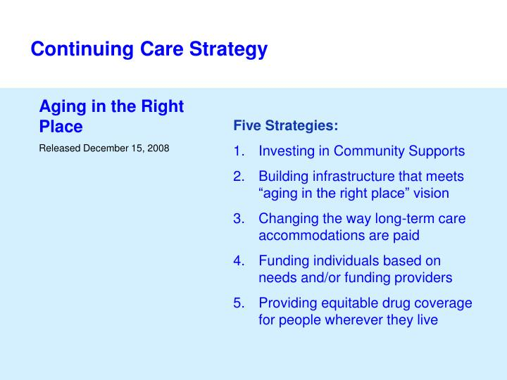 Continuing Care Strategy