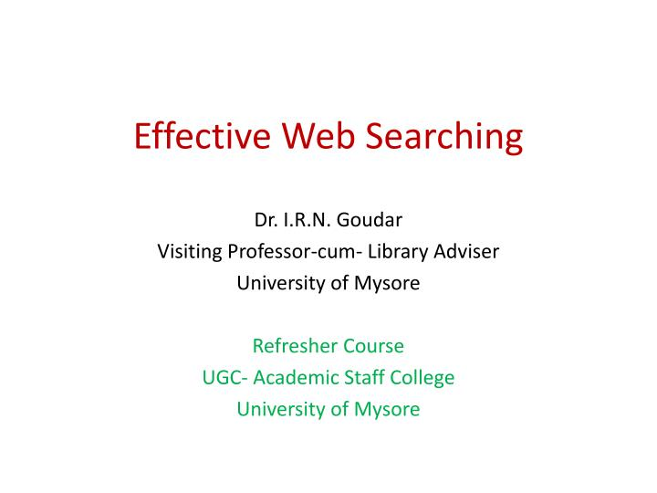 effective web searching n.