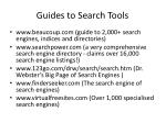 guides to search tools