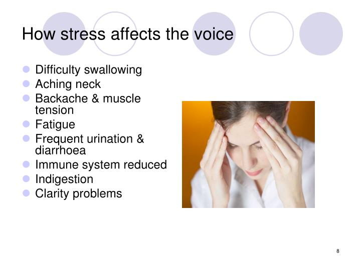 How stress affects the voice