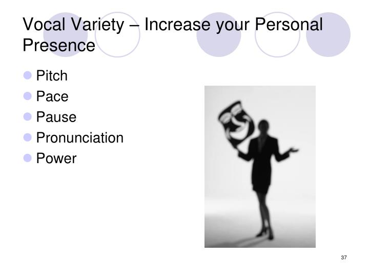 Vocal Variety – Increase your Personal Presence