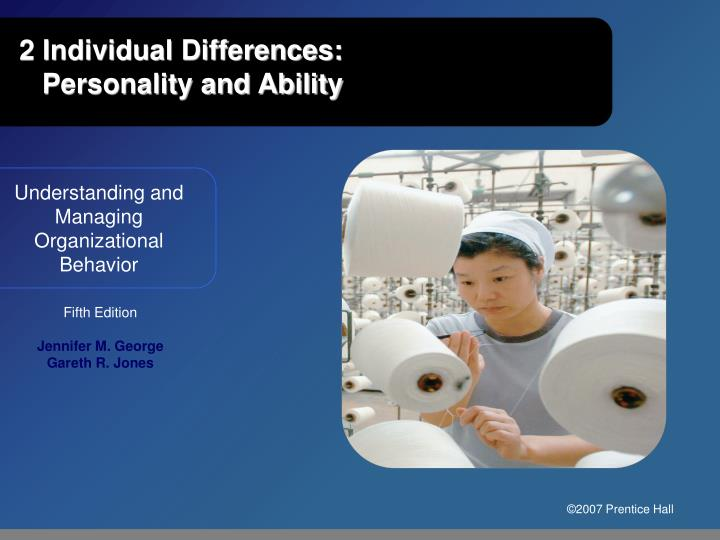 2 individual differences personality and ability n.