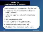 exhibit 2 5 a measure of extraversion