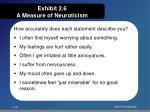 exhibit 2 6 a measure of neuroticism
