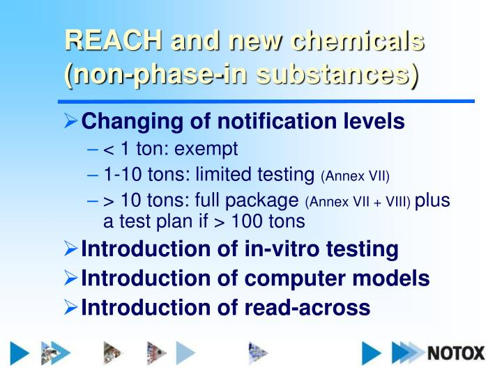 REACH and new chemicals