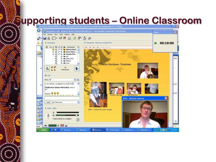 Supporting students – Online Classroom