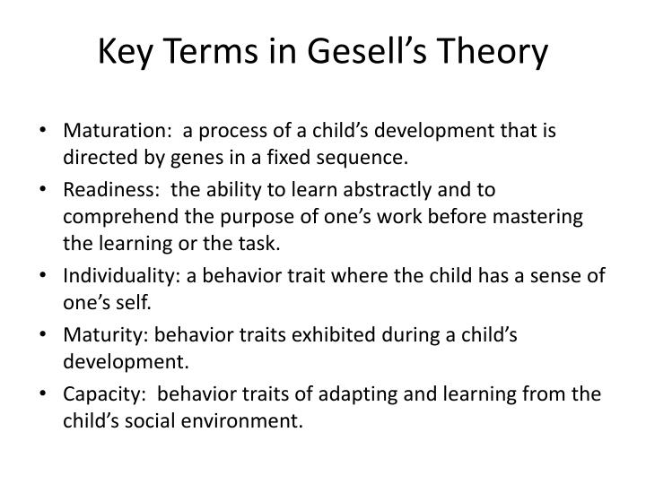 gesell theory of physical development