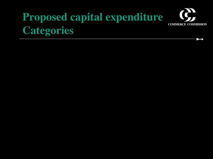 proposed capital expenditure categories n.
