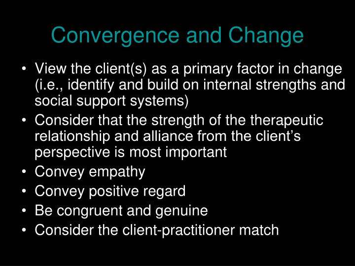 Convergence and Change