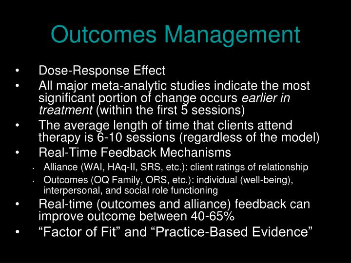 Outcomes Management