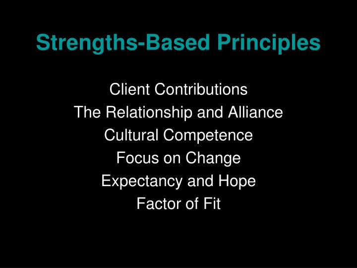 Strengths-Based Principles