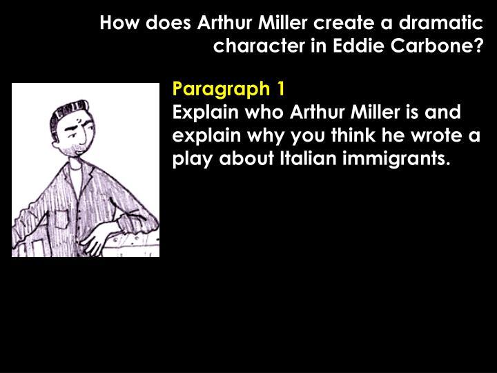 how does arthur miller create idea