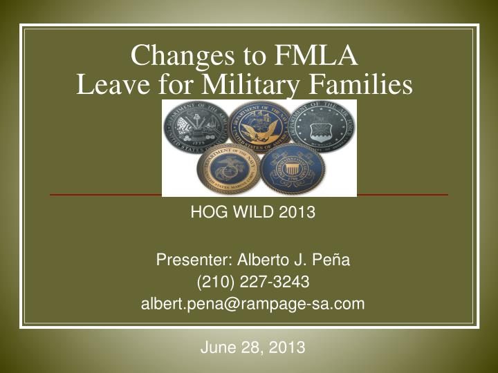 changes to fmla leave for military families
