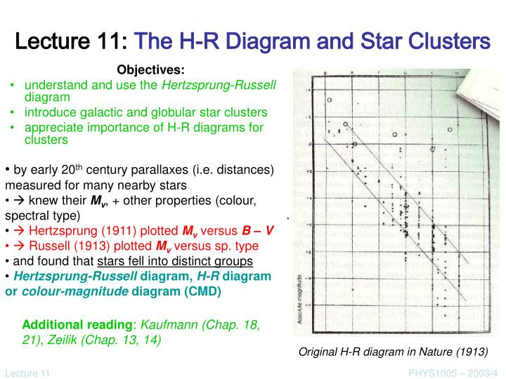 Ppt lecture 11 the h r diagram and star clusters powerpoint lecture 11 the h r diagram and star clusters ccuart Image collections