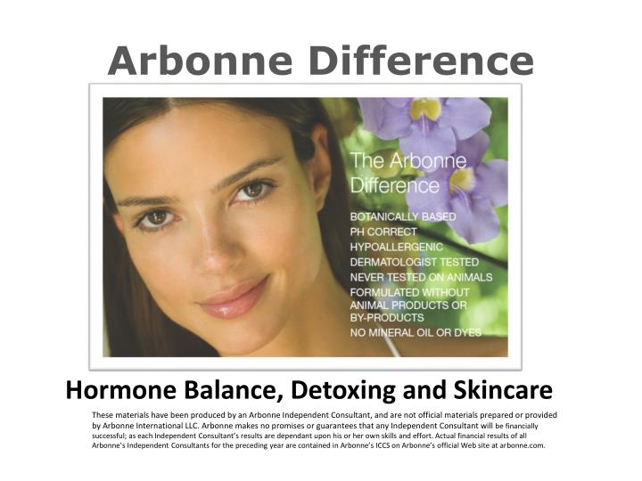 arbonne difference n.