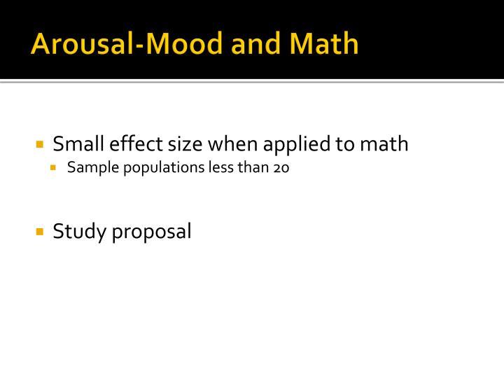 Arousal-Mood and Math