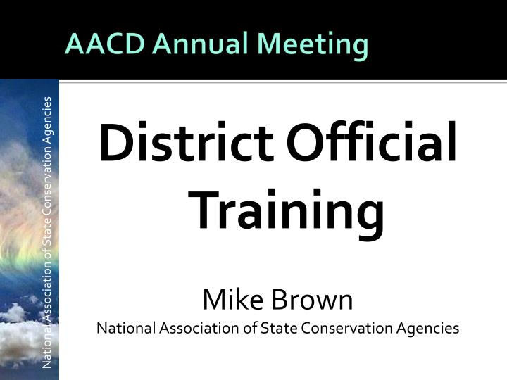 aacd annual meeting n.