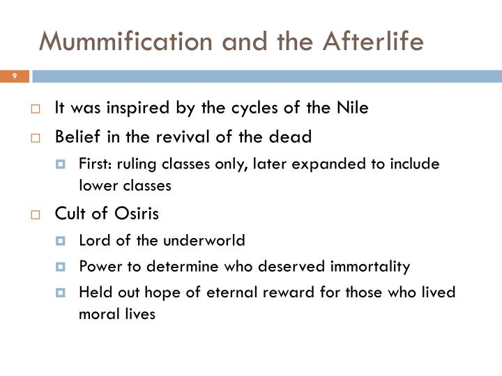 Mummification and the Afterlife