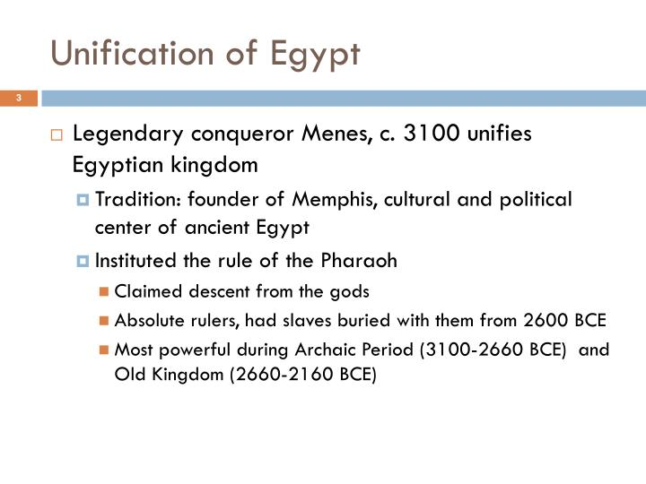 Unification of egypt