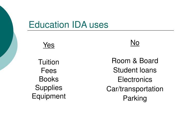 Education IDA uses