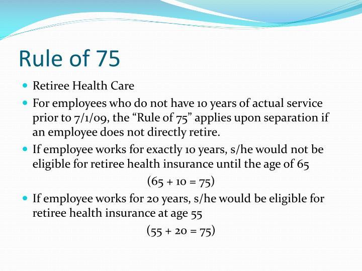 Rule of 75