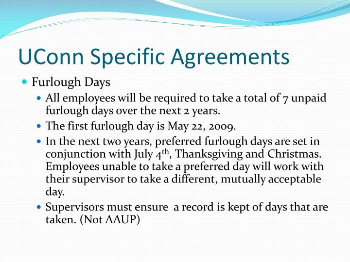 UConn Specific Agreements