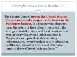 example moco peace resolution
