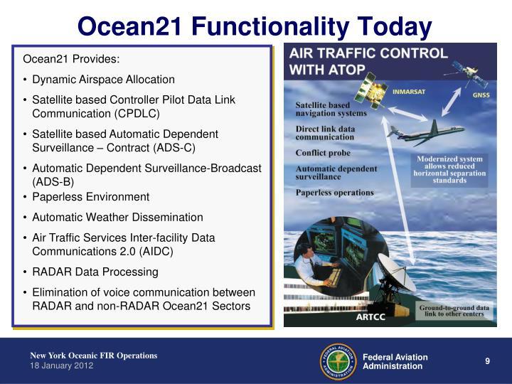 Ocean21 Provides: