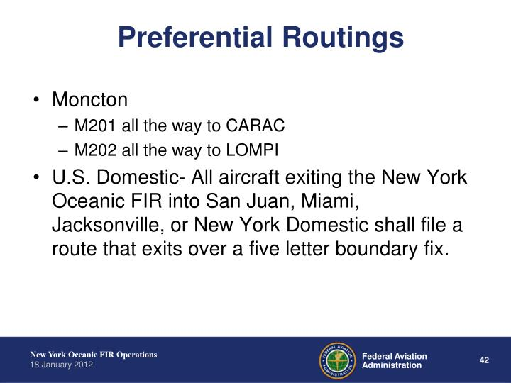 Preferential Routings