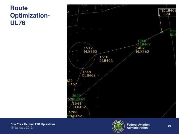 Route Optimization- UL76