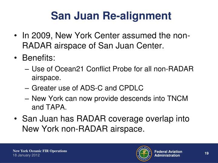 San Juan Re-alignment