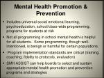 mental health promotion prevention