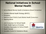national initiatives in school mental health