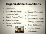 organizational conditions1