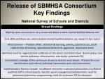 release of sbmhsa consortium key findings2