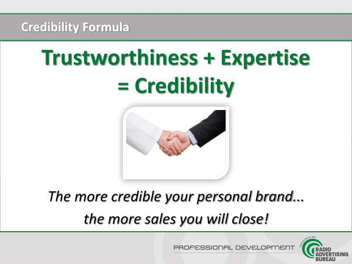 Credibility Formula