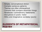 elements of metaphysical poetry