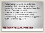 metaphysical poetry
