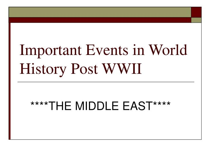 important events in world history post wwii n.