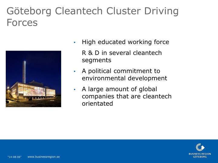 Göteborg Cleantech Cluster Driving Forces