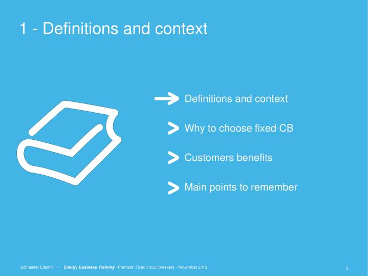 1 definitions and context