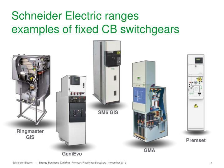 Schneider Electric ranges