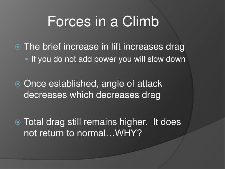 Forces in a Climb