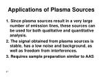 applications of plasma sources