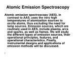 atomic emission spectroscopy1