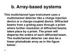 b array based systems