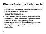 plasma emission instruments